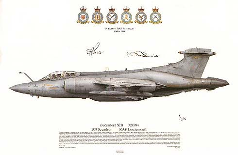 Sqn Print SP35 '25 Years of RAF Buccaneers' featuring XX894 208 Sqn RAF Lossiemouth